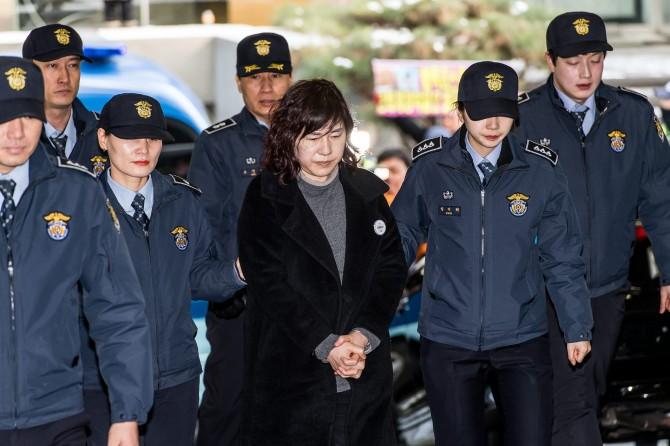 정유라 특혜의혹으로 1월 27일 특검에 구속된 이화여대 이인성 교수. - 동아DB 제공